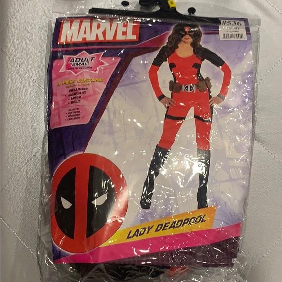 Marvel Three Piece Lady Deadpool Costume